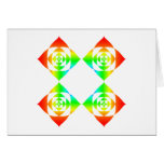 Multi-Color Rainbow Flowers. On White. Greeting Card