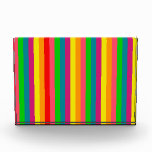 Multi Color Rainbow Vertical Stripes Pattern Award