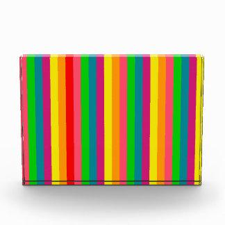 Multi Color Rainbow Vertical Stripes Pattern Award