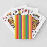 Multi Color Rainbow Vertical Stripes Pattern Poker Cards