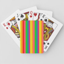 Multi Color Rainbow Vertical Stripes Pattern Playing Cards
