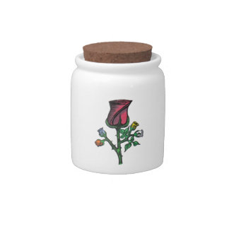 Multi-Color Roses...Candy Jar