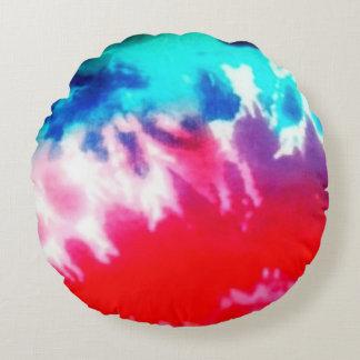Multi color round pillow