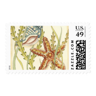 Multi-Color Shell Party Postage Stamp