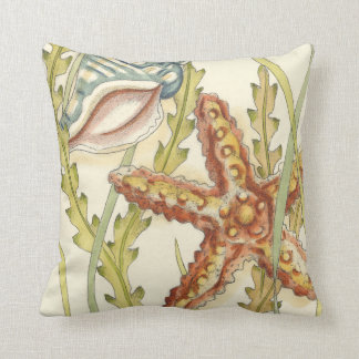 Multi-Color Shell Party Throw Pillow
