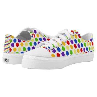 Multi Color Small Polka Dots (2).jpg Printed Shoes