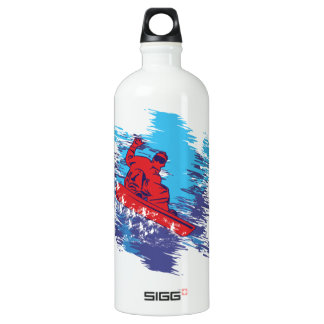 Multi Color Snowbarder Cathching High Snow Drifts SIGG Traveler 1.0L Water Bottle