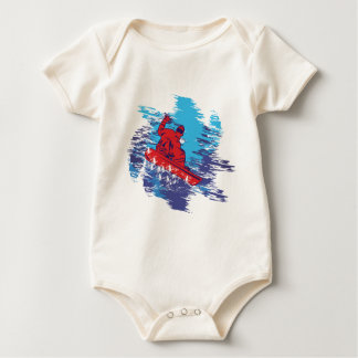 Multi Color Snowbarder Cathching High Snow Drifts Bodysuits