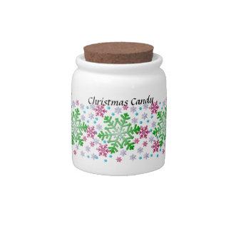 Multi-Color Snowflake Candy Jar