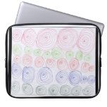 Multi color spiral art laptop computer sleeve