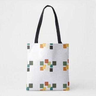 Multi Color Square design Tote Bag