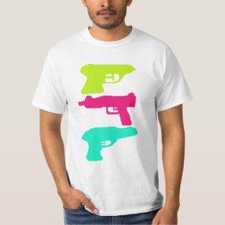 Multi color squirt gun shirt