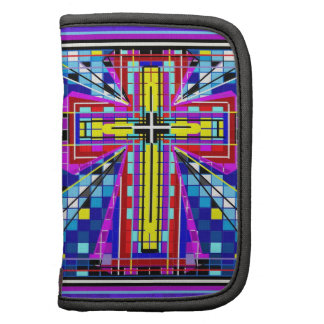 Multi color stained glass Cross Planners