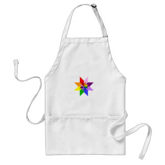 Multi-Color Star: Eight Point: Adult Apron