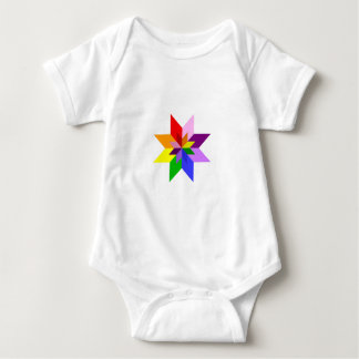 Multi-Color Star: Eight Point: Baby Bodysuit