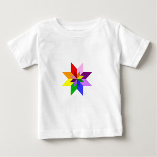 Multi-Color Star: Eight Point: Baby T-Shirt