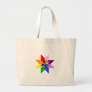 Multi-Color Star Eight Point Tote Bag