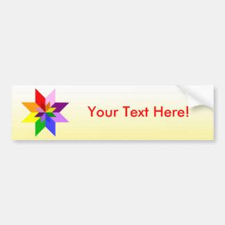 Multi-Color Star: Eight Point: Car Bumper Sticker