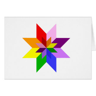 Multi-Color Star: Eight Point: Card