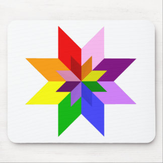 Multi-Color Star: Eight Point: Mouse Pad