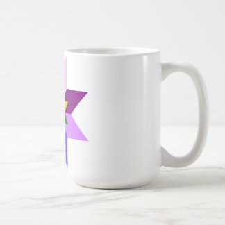 Multi-Color Star Eight Point Coffee Mug