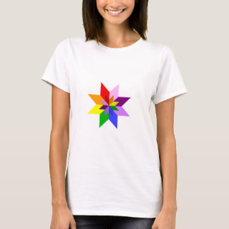 Multi-Color Star: Eight Point: T-Shirt