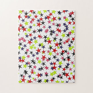 Multi-Color Stars Red Pink Lime Navy Black Puzzles