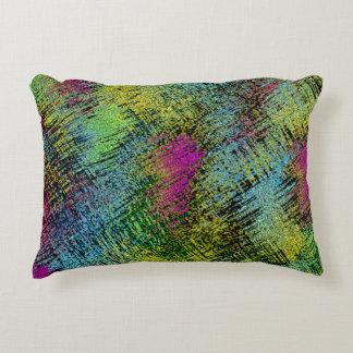 Multi-Color Stitches Accent Pillow