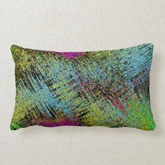 Multi-Color Stitches Lumbar Pillow