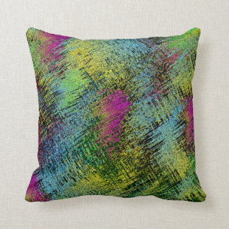 Multi-Color Stitches Throw Pillow