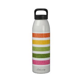 Multi Color Stripe Faux Croc BPA Free Water Bottle