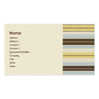 Multi Color Stripes Business Cards