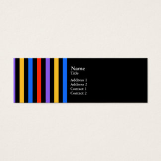 Multi Color Stripes Mini Business Card