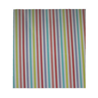 multi color stripes products notepad