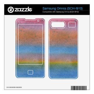 Multi-Color Stripes Skin For Samsung Omnia