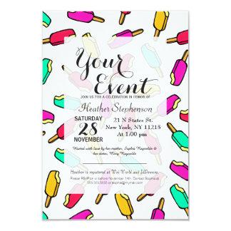 Multi Color Summer Popsicle Pattern Card