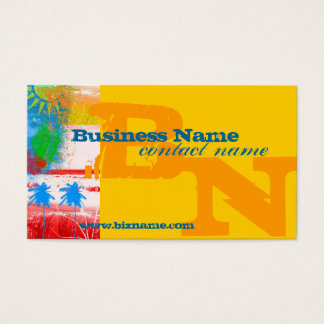 Multi Color Surfing Business Card