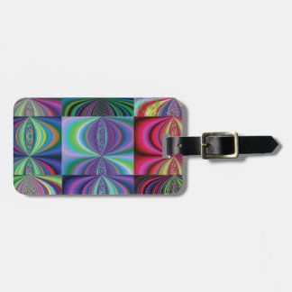 Multi Color Swirl Variations Travel Bag Tags