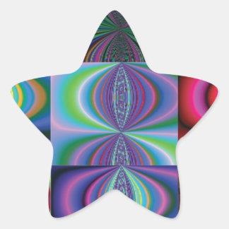 Multi Color Swirl Variations Star Sticker