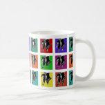 Multi-Color Tap Grid Classic White Coffee Mug