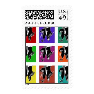 Multi-Color Tap Grid Postage