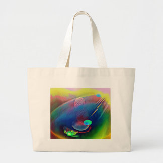 Multi+Color Universe Abstract Alien Worlds Large Tote Bag