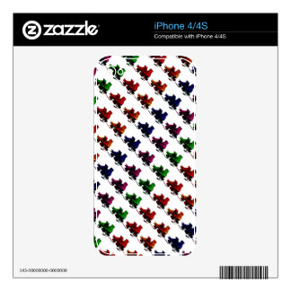 Multi Color Vintage Roller Skates Decal For The iPhone 4