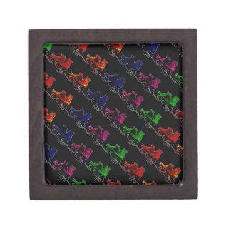 Multi Color Vintage Roller Skates Gift Box