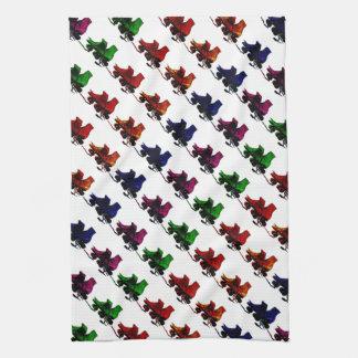 Multi Color Vintage Roller Skates Hand Towels