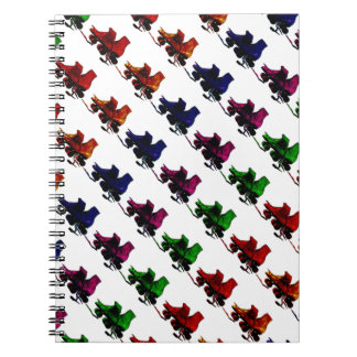 Multi Color Vintage Roller Skates Spiral Notebook