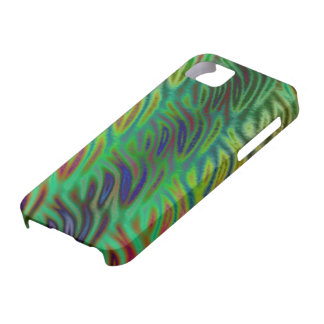 Multi Color Wave Green iPhone SE/5/5s Case