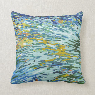 Multi Color Wave Reflections Decor Pillow