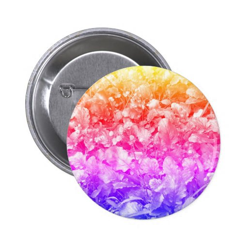 Multi Color Wild Flowers Buttons