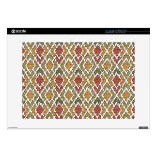 "Multi Color Wood Geo Tribal Ikat Diamond Pattern Skin For 15"" Laptop"